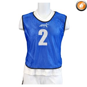 15 numbered pinnies, blue
