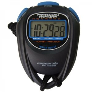 Six function stopwatch, 1 / 100 sec precision