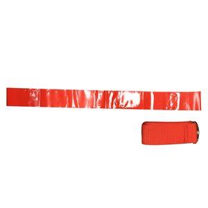12 red nylon football flag belts