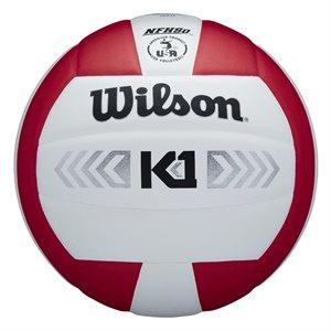 Wilson K1 volleyball, white / red